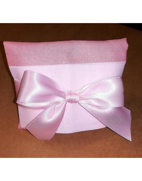 Sacchetto chiuso a busta bicolore rosa antico/rosa