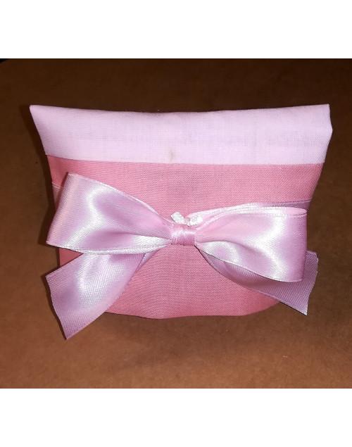 Sacchetto chiuso a busta bicolore rosa baby/rosa antico