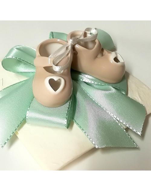 Pacchetto confetti con scarpette porcellana