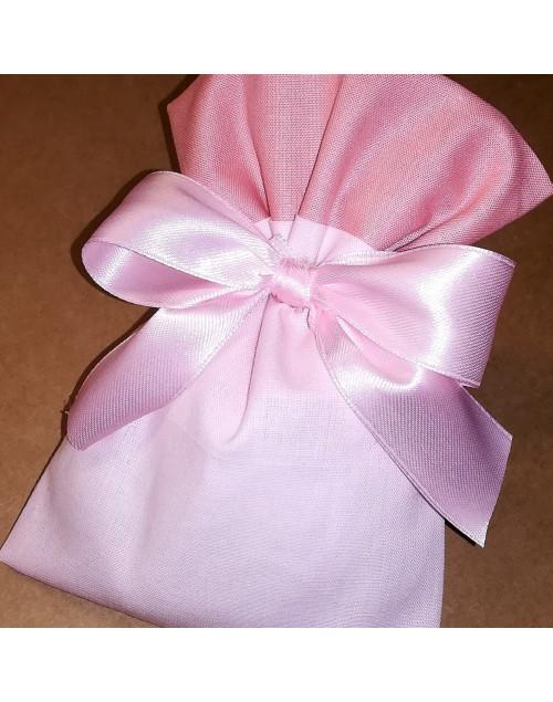 Sacchetto bicolore rosa/rosa antico