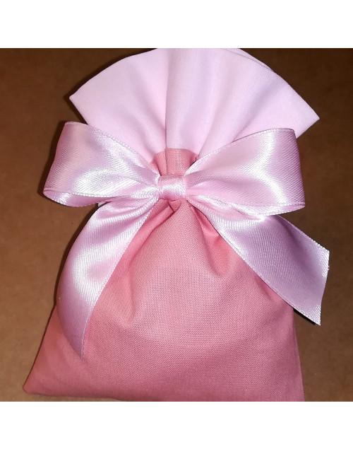 Sacchetto bicolore rosa antico/rosa