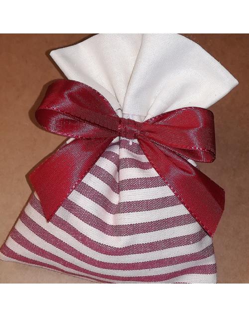 Sacchetto confetti bicolore tinta unita e righe