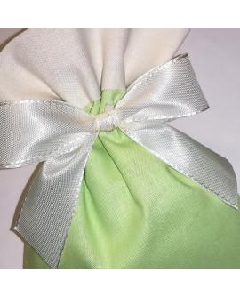 Sacchetto bicolore verde prato/panna