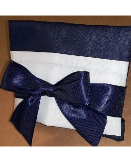 Sacchetto chiuso a busta bicolore blu/panna