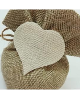 Saccotto a pouf lino con decoro
